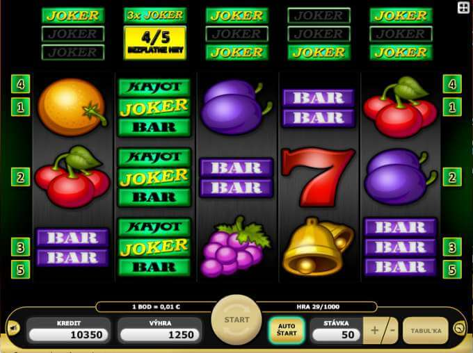 Casino hra Joker Dream