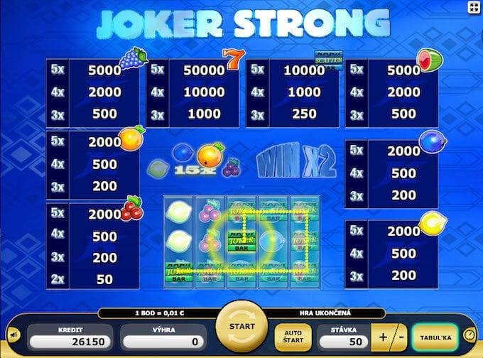 Joker Strong automat zdarma