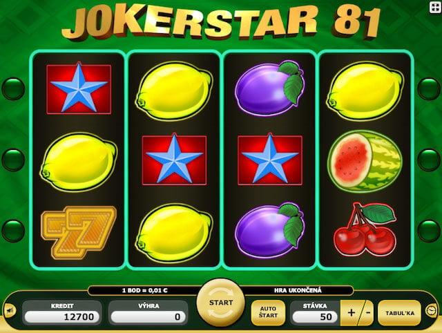 Zahraj si hrací automaty Joker Star 81