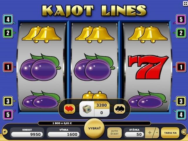 Kajot automat Kajot lines pro