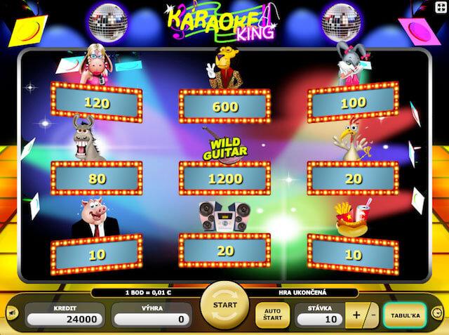 Hrací automat zdarma Karaoke King