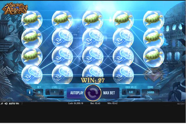 Výherní automat Secrets of Atlantis právě pro vás!