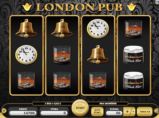 Automaty zdarma London Pub