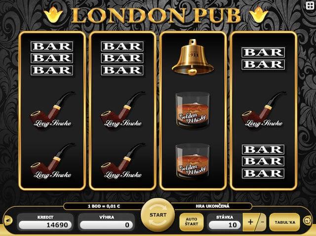 Hrací automaty zdarma London Pub