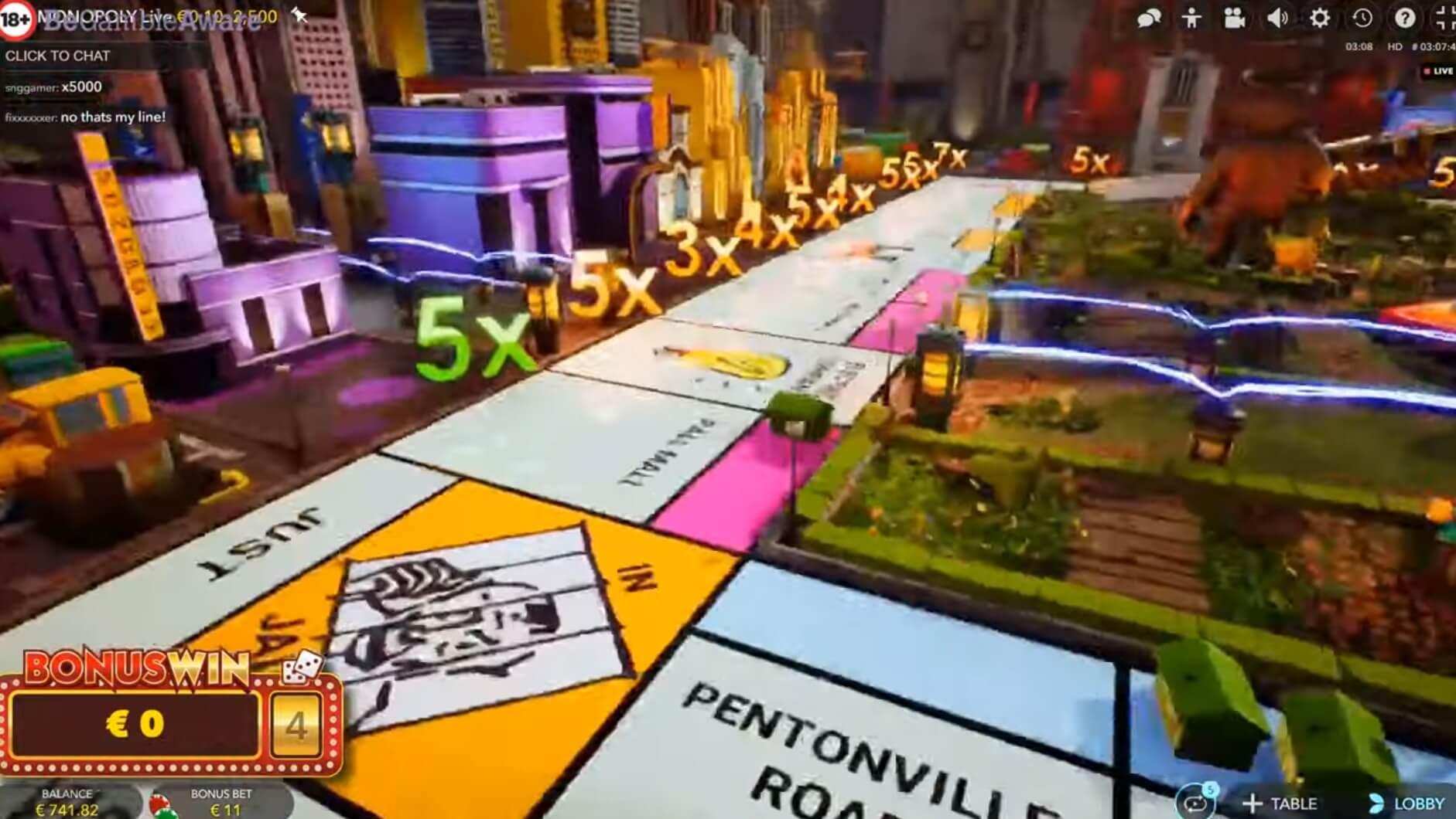 Více informací o hře Monopoly Live