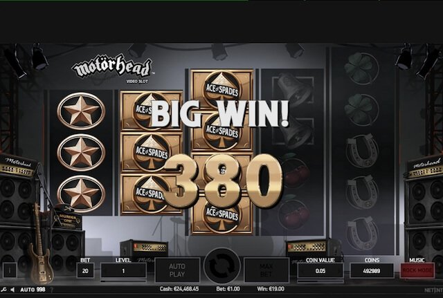 Big Win v herním automatu Motorhead