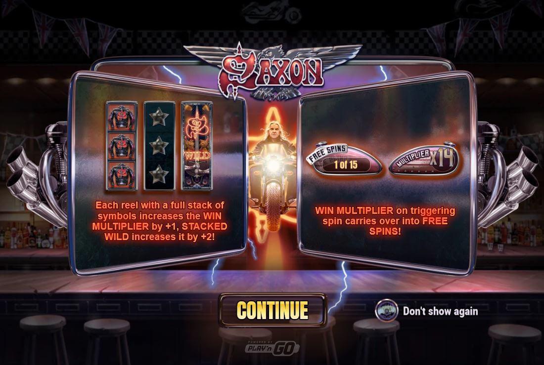 Zajímavý herní bonusy v online casinové hře Saxon