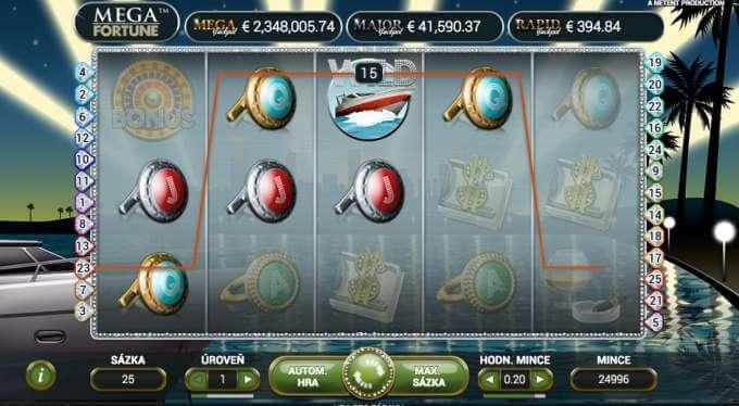 Zobrazení výherního automatu Mega Fortune