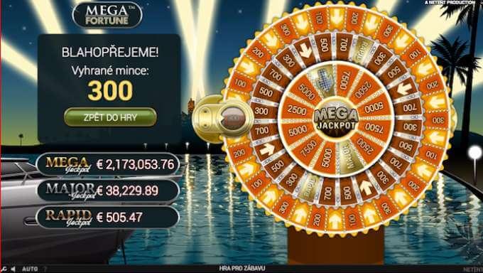 Kolo štěstí ve hře Mega Fortune