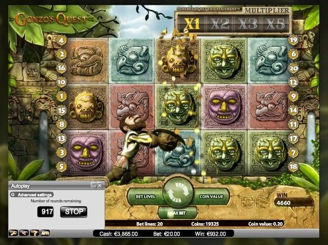 Herní automat Gonzo's Quest