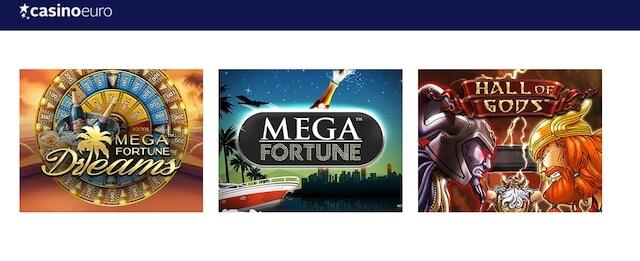 Výherní jackpoty v CasinoEuro