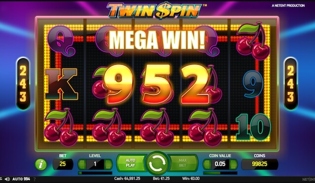 Výherní automat zdarma Twin Spin