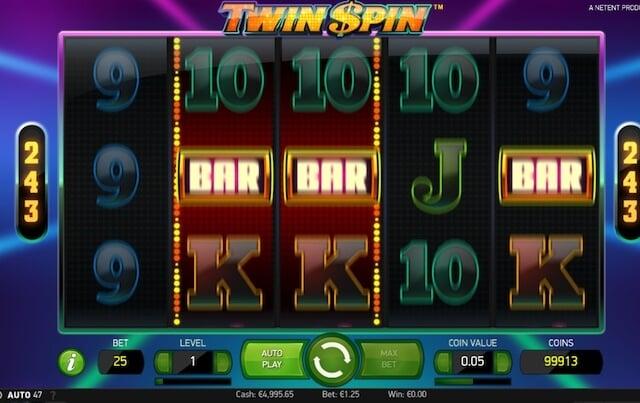 Herní automat Twin Spin s 5válcy