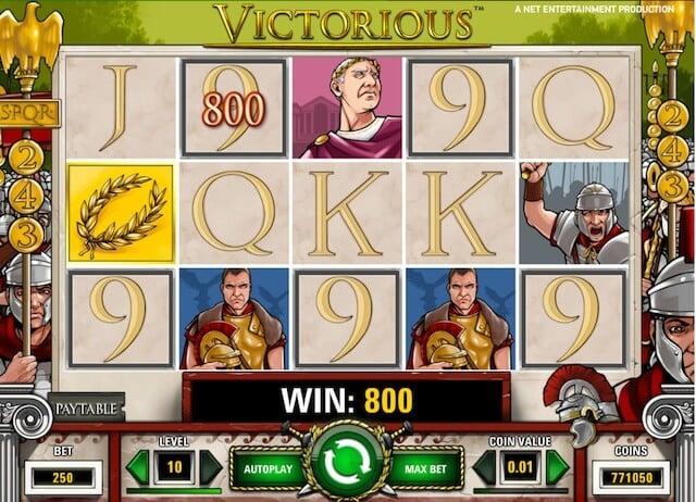Hrací automaty zdarma, jako je Victorious můžete najít na stránce ceskecasino