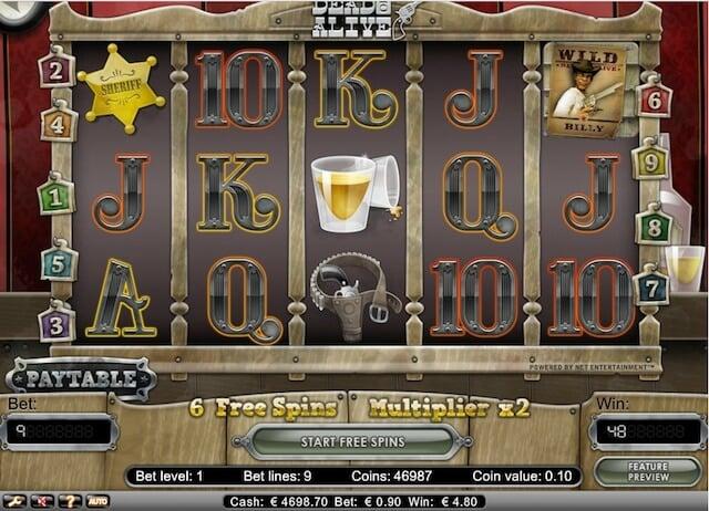 Hrací automat zdarma, jako je Dead or Alive, který je dostupný pro hráče z České republiky