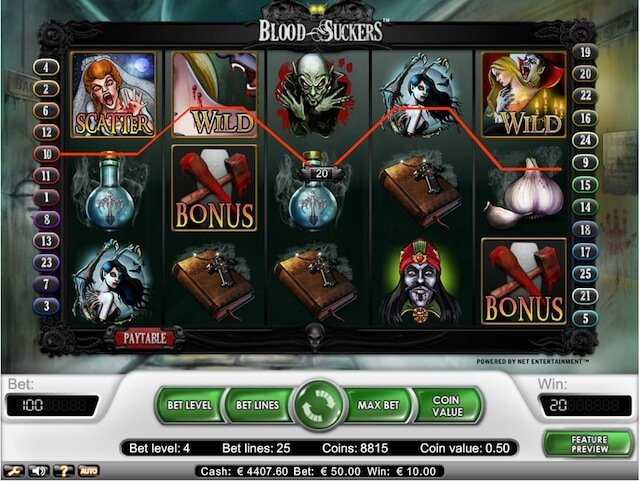 Hrací automaty zdarma, jako je Blood Suckers! Dostupná pro hráče z České republiyk