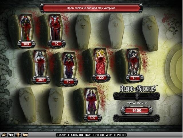 Herní automat Blood Suckers má jedno z nejlepších bonusových vylepšení, které může hráčům online hra nabídnout.