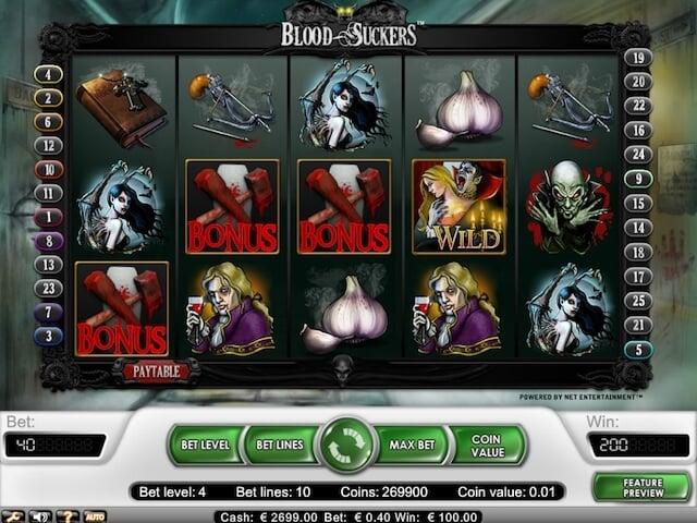 Bonusový symbol v online hře Blood Suckers, který vám nabídne zajímavé částky