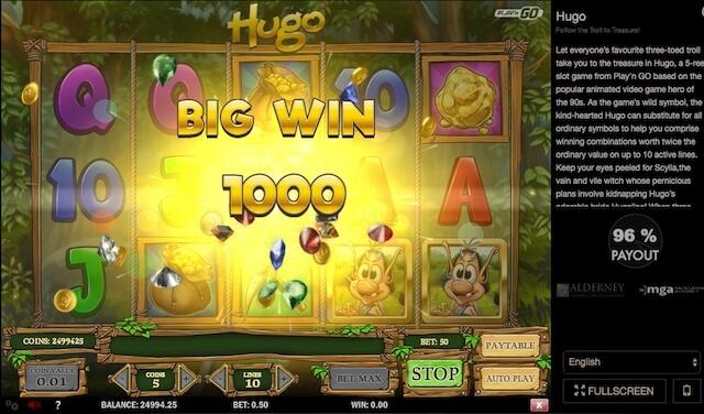 Výherní automat od Play'n GO Hugo