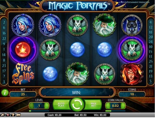 Zobrazení herního automatu Magic Portals