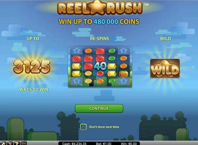 Casino hra Reel Rush. Doporučujeme vyzkoušet!