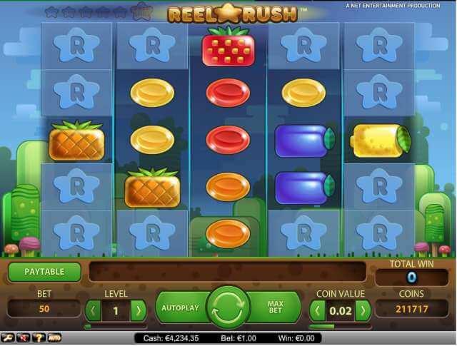 Casino hry zdarma, jako je Reel Rush můžete najít v ceskecasino.com