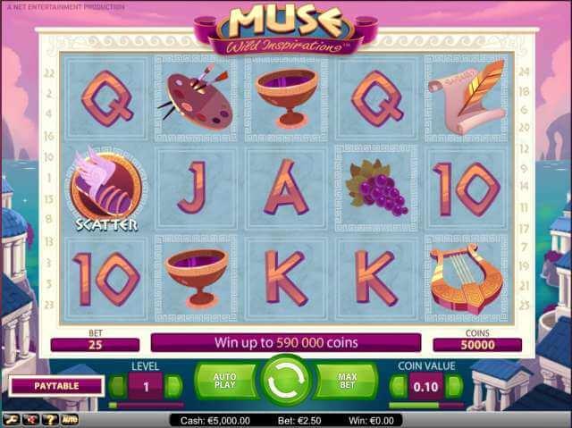 Zajímavá online hra od vývojářů NetEnt - Muse