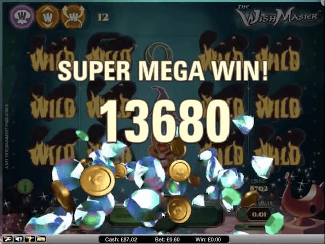 Super Mega výhra ve hře Wish Master