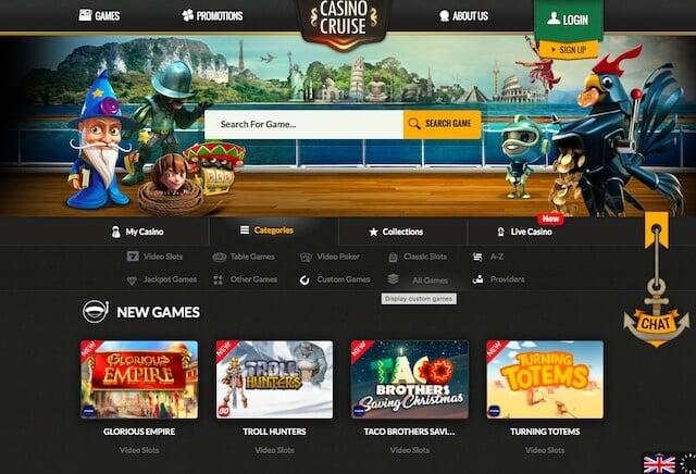 Online hrací automaty v Casino Cruise