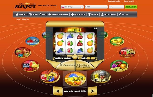 Kolotoč zajímavých automatů v Kajot casino