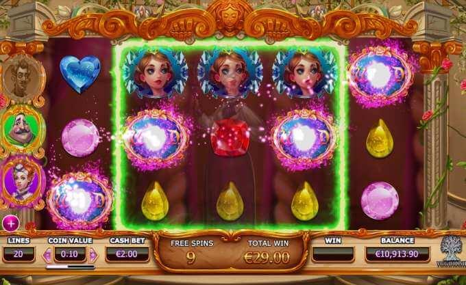 Herní bonusy v automatu Beauty and Beast