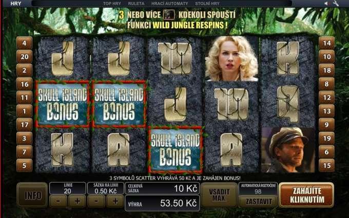 Vyzkoušej si casino automaty od Playtech. Například hru Kong
