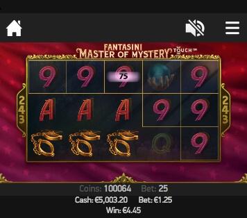 Mobilní automat Fantasini Master of Mystery