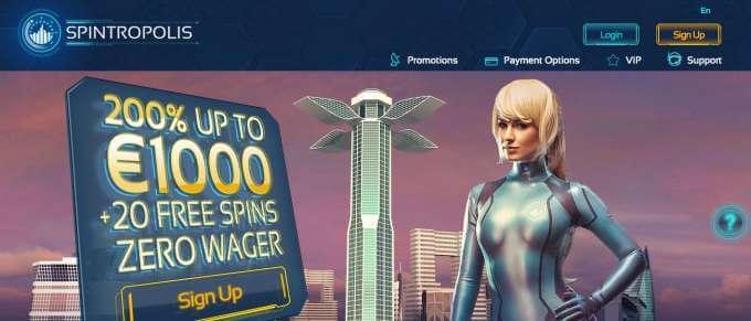Spintropolis online casino pro všechny milovníky automatů