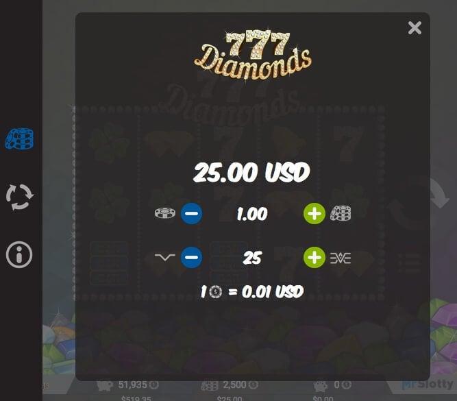 Vyzkoušej si herní automat 777 Diamonds