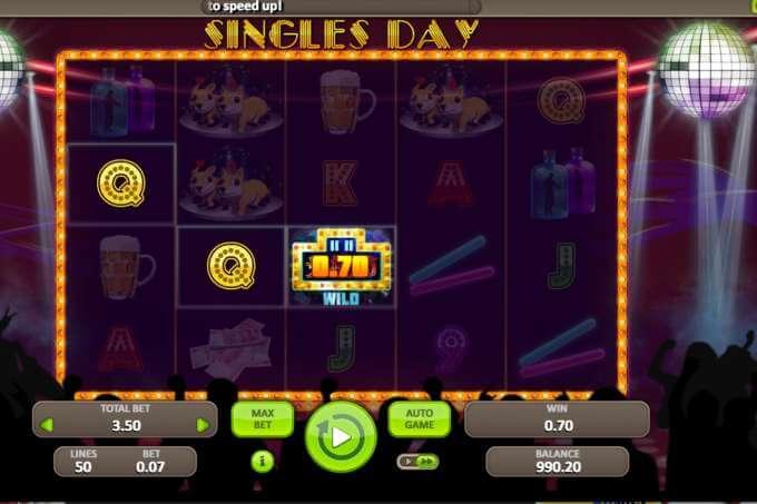 Jedinečná herní grafika automatu Singles Day