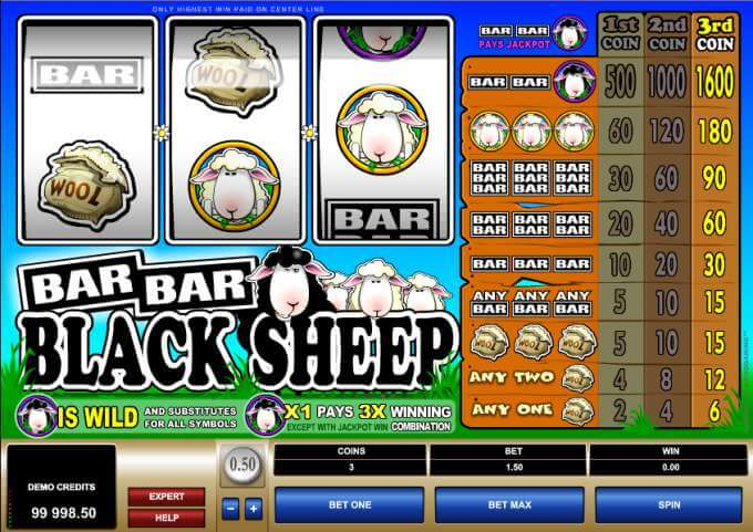 Bar Bar Black Sheep casino hra