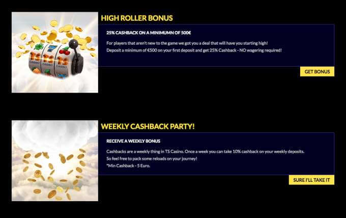 Víkendové bonusy v online casinu TS
