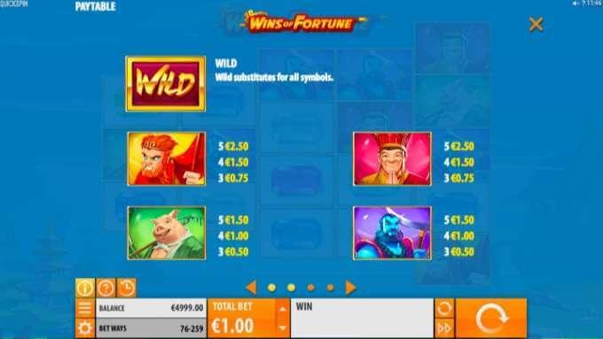 Wins of Fortune casino hra, která vás nenechá spát