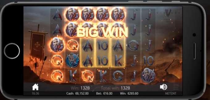 Výhra v online casino automatu od NetEnt Vikings!