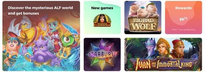 Casino hry v Alfcasino