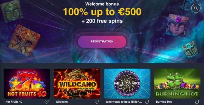 Online casino Buran s bonsem 100% do hodnoty €500