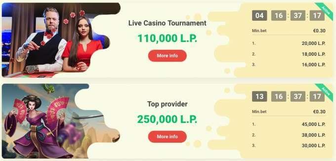 Casino Turnaje v Yoyo casino - nové casino pro české hráče