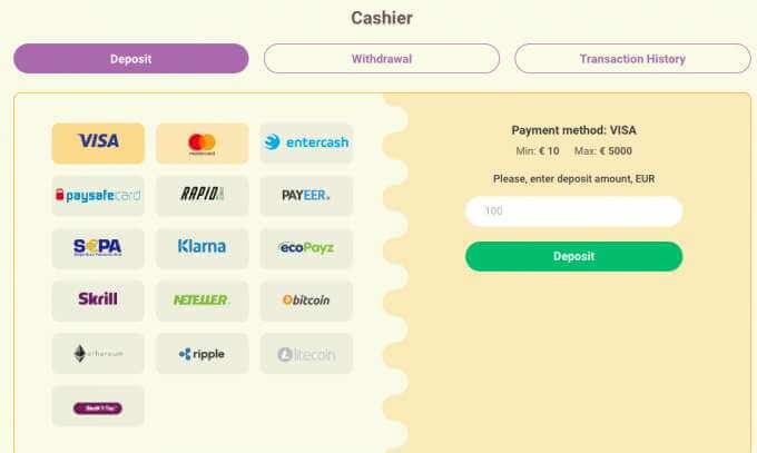Platební metody v online casinu Yoyo