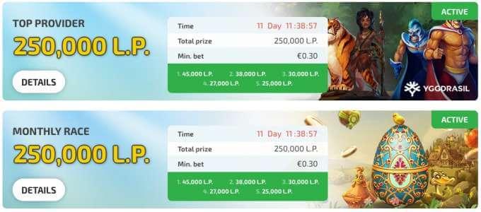 Turnaje v casinu BoaBoa o velké bodové ceny jako o 250 000 tisíc bodů