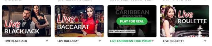 LIVE CASINO automaty jak live blackjack nebo live ruleta v BoaBoa casinu!