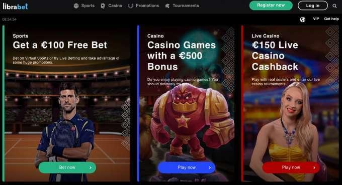 Online casino Librabet s nejlepšímy bonusy
