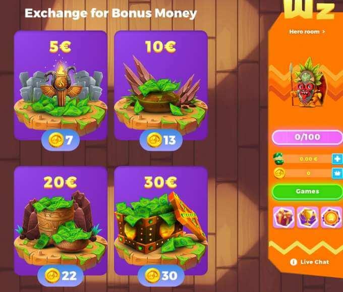 Kup si pořádná cash za zlatý mince v casinu Wazamba!
