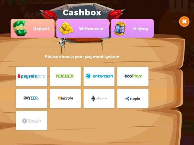 Wazamba casino nabízí Neteller, ecopay, payeer, abitcoin, etherum a další