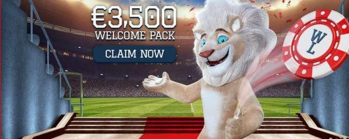 Velký uvítací bonus v online casinu White Lion si můžete hned dnes odnést!